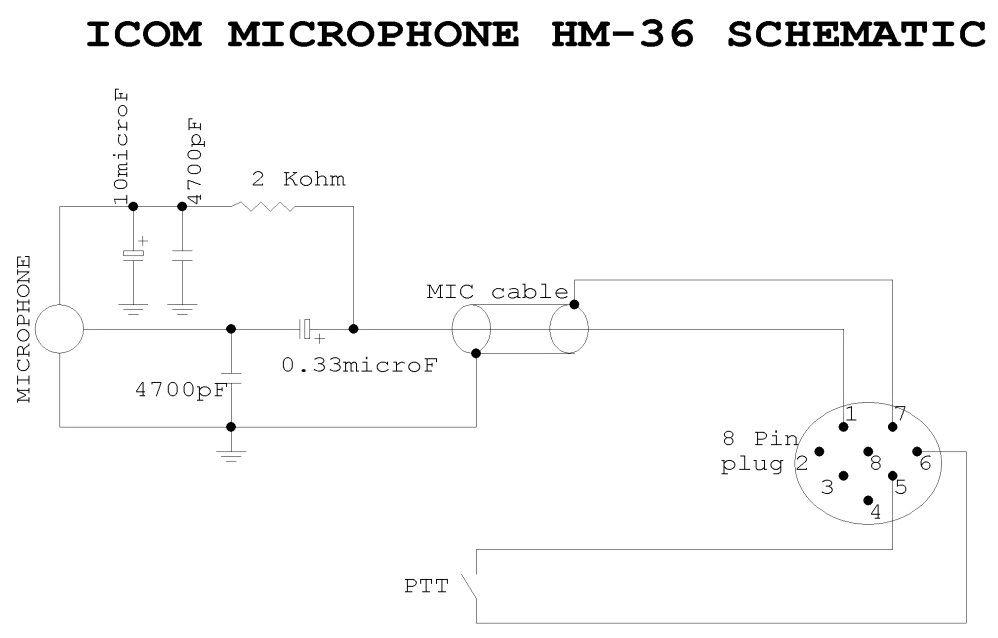 iw7ehc web site a simple universal adapter can be made by keeping the same configuration and replacing the mic element the proper socket